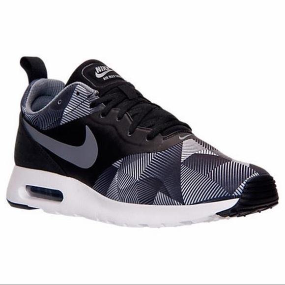 Black Grey White Nike Air Max Tavas Print Running